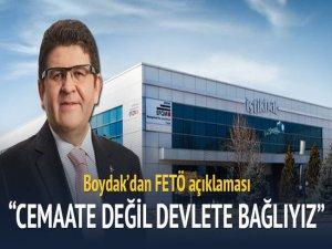 Boydak Holding'ten Gülen Açıklaması