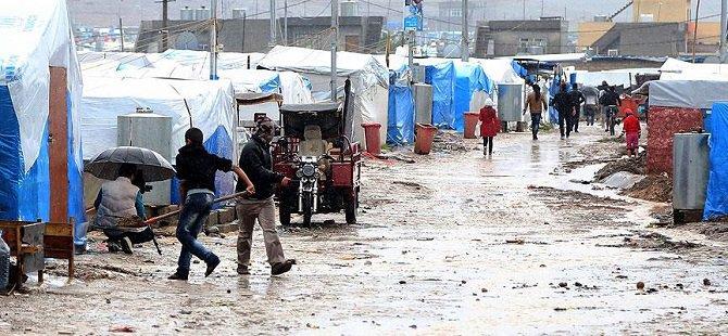Irak'taki Sığınmacıların Yağmur Çilesi
