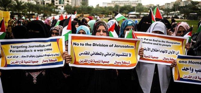Gazzeli Kadınlardan Batı Şeria'ya Destek Gösterisi