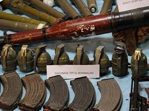 Siirt'te PKK'ya Ait Çok Sayıda Silah ve Mühimmat Ele Geçirildi