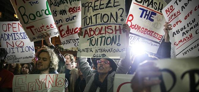 ABD'de Öğrenciler Harçların Kaldırılması İçin Yürüdü