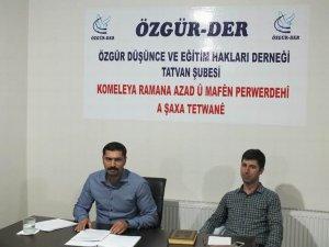 """Tatvan Özgür-Der'de """"Kur'ân'da Küfür ve Şirk"""" Konuşuldu"""