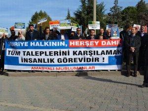 Amasya'da Bayırbucak Bölgesi'ne Yapılan Saldırılar Lanetlendi