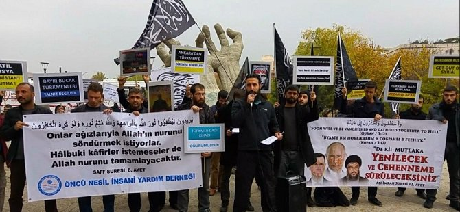 Ankara'da Rusya ve Esed Protesto Edildi
