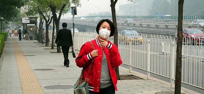 Çin'de Hava Kirliliği Kritik Seviyelerde