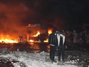 Rusya Yardım TIR'larını Bombaladı: 6 Kişi Katledildi!