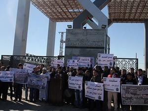 Refah Sınır Kapısında Eylem: Kapıyı Açın!