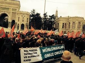 Sol Saldırganlık Beyazıt Meydanı'nda Protesto Edildi!