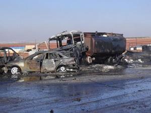 Rusya Suriye'de Yakıt Pazarına Saldırdı: 25 Kişi Hayatını Kaybetti!