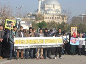 Sakarya Üniversitesi'nde Sol Saldırılar Protesto Edildi