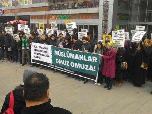 Selçuk Üniversitesinde Sol Faşizanlık Protesto Edildi