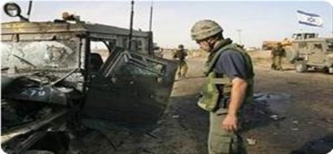 Gazze Sınırında İşgal Askerlerine Ait Araca Mayınlı Saldırı