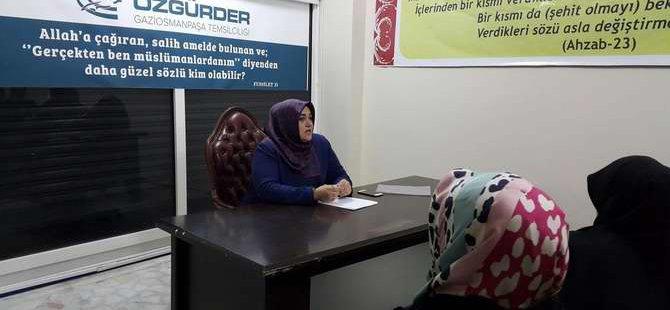 Gaziosmanpaşa Özgür-Der'de Ürdün-Filistin Konuşuldu