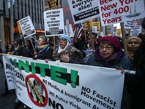 İslâm Düşmanı Donald Trump New York'ta Protesto Edildi