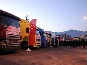 Bursa İHH'dan Bayırbucak Türkmenlerine 16 TIR Yardım