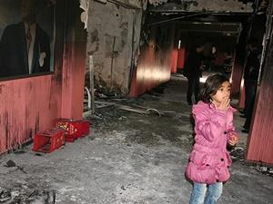 YDG-H'li Saldırganların Yaktığı Okulda Hasar Tespiti Yapıldı