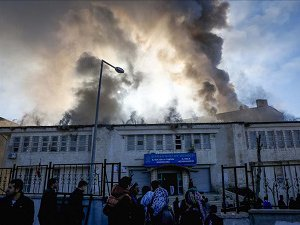 Şırnak'ta Kütüphane ve Kültür Merkezine PKK Saldırı (Foto)