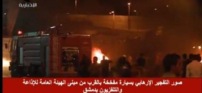 Esed Rejimi'nin Televizyon ve Radyo Binaları Vuruldu