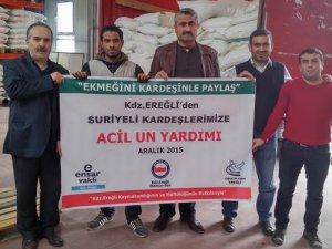 Ereğli'den Suriyeli Kardeşlerimize 30 Ton Un Yardımı