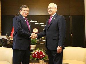 Davutoğlu, CHP Genel Başkanı Kılıçdaroğlu İle Görüştü