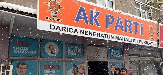 AK Parti Mahalle Temsilciliğine Molotofkokteylli Saldırı