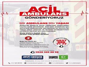Suriye'ye Acil Ambulans Kampanyası