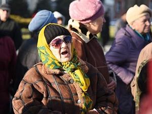 Rusya'da Emeklilerden Protesto