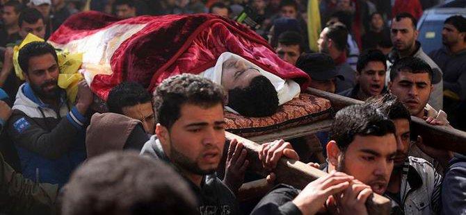 Gazze Halkı Şehit Muhammed'i Uğurladı