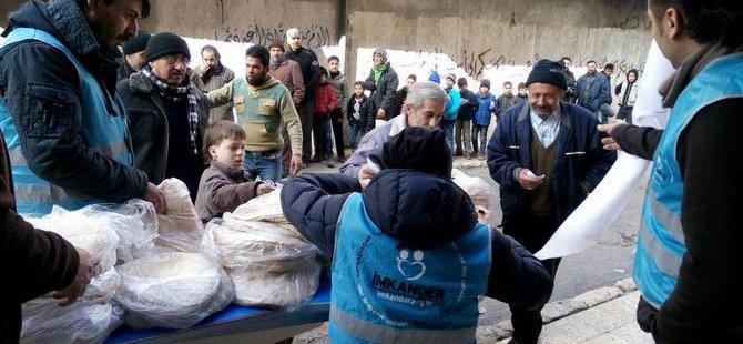 İMKANDER Suriye'de Günde 300 Bin Ekmek Dağıtıyor