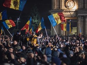 Moldova'da Hükûmet Karşıtı Gösteriler Düzenlendi