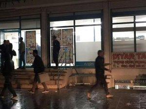 PKK'lılar Markete Molotofkokteyli Attı