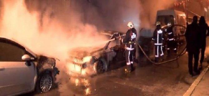Beyoğlu'nda 6 Araç Birden Kundaklandı