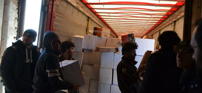 Davet Derneği Şehid Tekiner Tayfur Yardım Tırı Suriye'ye Ulaştı