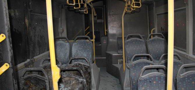 Diyarbakır'da Belediye Otobüsü Ateşe Verildi
