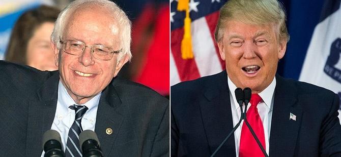 ABD'de İkinci Ön Seçimin Galipleri Sanders ve Trump Oldu