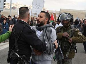 İşgalci İsrail Askerleri Filistinli Protestoculara Müdahale Etti!