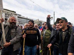 Yunanistan'da Göçmen Karşıtı Gösteri