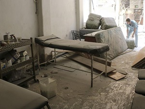 Esed Rejimi Okul ve Hastaneyi Vurdu