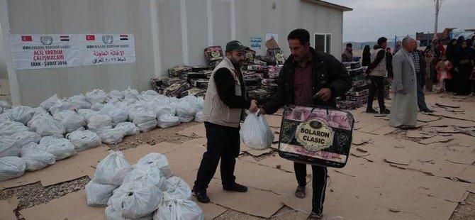 İHH'dan Irak'taki 70 Bin Sığınmacıya Kış Yardımı