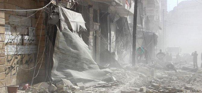 Rusya Halep'in Merkezini Bombalıyor