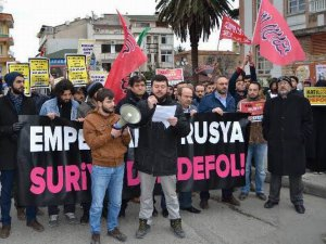 Trabzon'da Suriye'deki Rus ve İran Katliamlarına Protesto