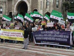 Üniversite Gençliği Şer Cephesine Direnen Suriye Halkını Selamlıyor