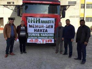 Amasya Havza'dan Suriye'ye Un Yardımı