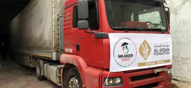İmkander'den Suriye'ye 300 Ton Gıda Yardımı