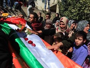 İsrail Askerlerinin Katlettiği Filistinli Genç Defnedildi