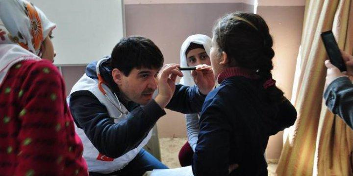 AID'in Suriyeli Muhacirlere Sağlık Taramaları Devam Ediyor
