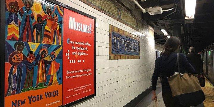İslamofobi Karşıtı 'Mizahlı' Afişler New York Metrosunda
