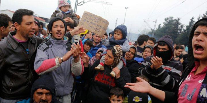 Mültecilerin Yunanistan - Makedonya Sınırındaki Dramı Devam Ediyor