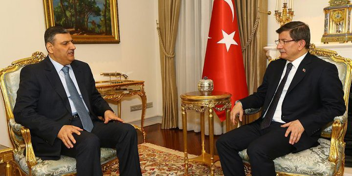 Başbakan Davutoğlu, Riyad Hicab'ı Kabul Etti