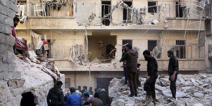 Rusya'nın Suriye Saldırılarında 443'ü Çocuk Bin 984 Sivil Öldü